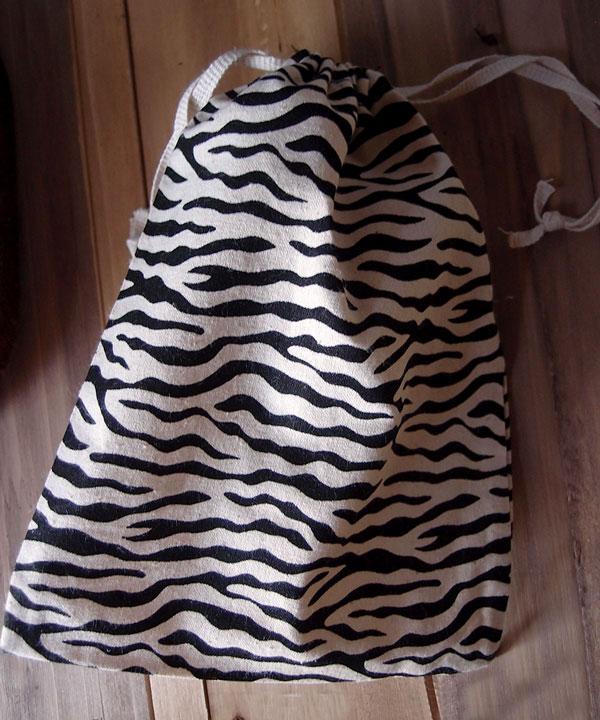 Zebra Print Cotton Bags