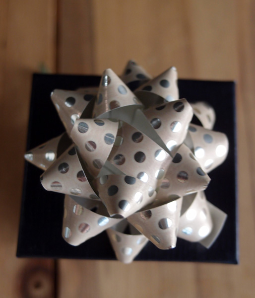 "Cream with Metallic Silver Dots 2"" Star Bows - 2"" Star Bows"