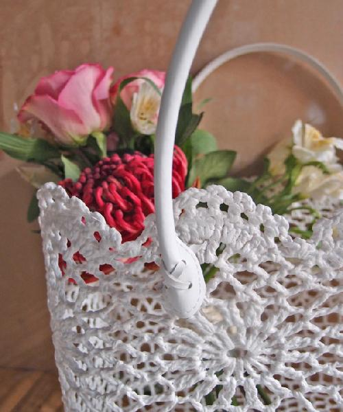 Stiffened Lace Basket