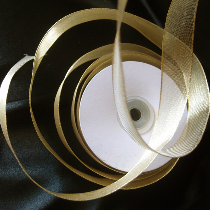 Gold Metallic Wired Ribbon