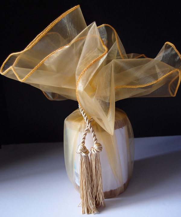 Sheer Wrapper w/ Tassel