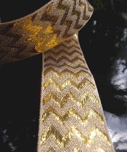 Gold Metallic Chevron Ribbon