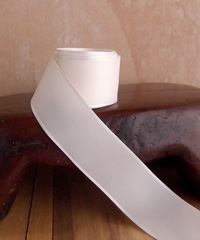 Ivory Taffeta Ribbon with Wired Edge