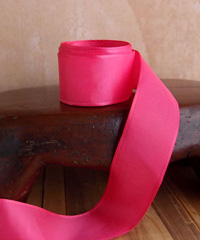 Hot Pink Taffeta Ribbon with Wired Edge