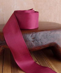 Burgundy Taffeta Ribbon with Wired Edge