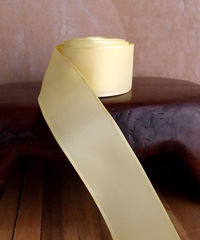 Light Yellow Taffeta Ribbon with Wired Edge