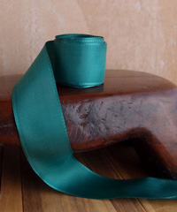 Hunter Green Taffeta Ribbon with Wired Edge