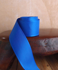 Royal Blue Taffeta Ribbon with Wired Edge