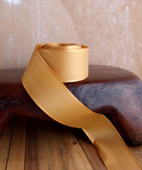 Gold Taffeta Ribbon with Wired Edge