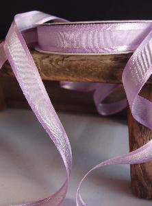 "Lavender Faux Linen Ribbon with Satin Edge 5/8""  - 5/8"" x 25Y"