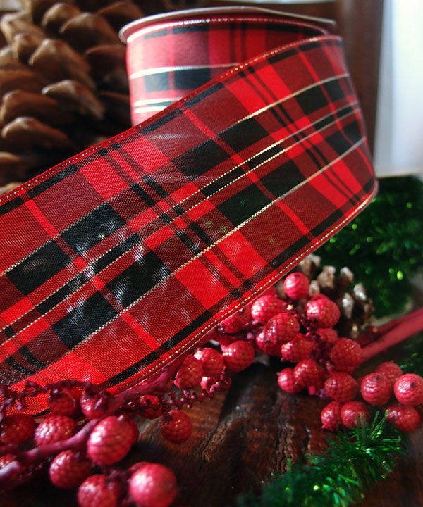 Tartan Plaid Wired Ribbon