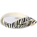 Zebra Animal Print Ribbon - 3 rolls minimum