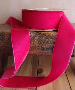 Hot Pink Velvet Ribbon