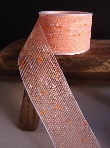 "Orange Tufted Cotton Twine Ribbon   - 1.5"" x 25Y"