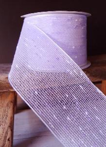 "Lavender Tufted Cotton Twine Ribbon 2.5 x 10Y - 2.5"" x 10Y"