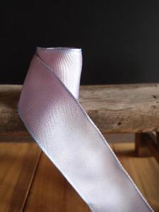 Lavender Two-toned Grosgrain Ribbon with Wired Edge