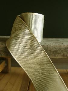 Moss Two-toned Grosgrain Ribbon with Wired Edge