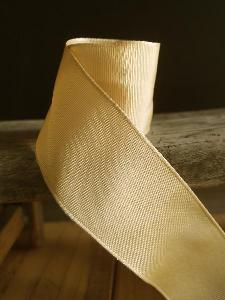 Champagne Two-toned Grosgrain Ribbon with Wired Edge