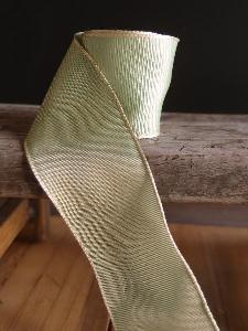 Kiwi Two-toned Grosgrain Ribbon with Wired Edge