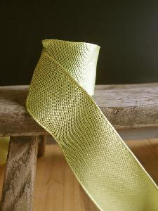 Pear Two-toned Grosgrain Ribbon with Wired Edge