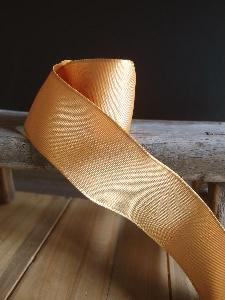 Gold Two-toned Grosgrain Ribbon with Wired Edge