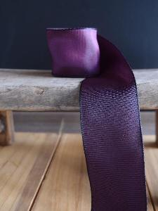 Eggplant Two-toned Grosgrain Ribbon with Wired Edge