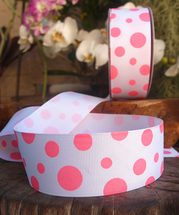 Polka Dot Ribbon - 3 rolls minimum