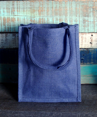 "Blue Euro Shopping Tote - 9"" x 11"" 4"""