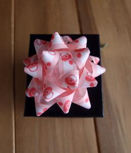 "Pink & White Baby Shower 2"" Star Bows - 2"" Star Bows"