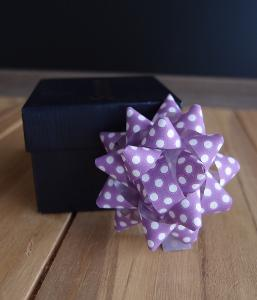 "Lavender with White Dots  2"" Star Bows - 2"" Star Bows"