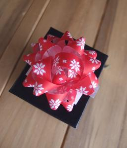 "Red & White Poinsettias 2"" Star Bows - 2"" Star Bows"