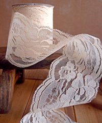 "Ivory Chantilly Lace Ribbon - 3"" x 10Y"