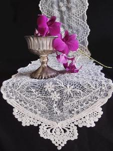"Ivory Lace Table Runner - 12"" x 74"""