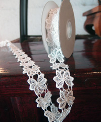 "Floral Lace Ribbon - 1"" x 5Y"