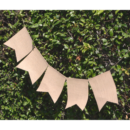 Natural Burlap Swallow Tail Pennant Banner