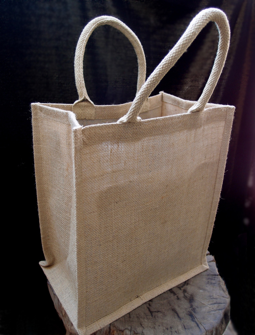 "Jute Wine Totes w/ Dividers - 8"" x 12"" x 14"""