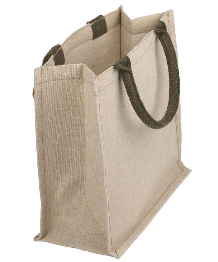 "Jute Cotton Blend (Juco) Shopping Tote - 12"" x 12"" x 7 3/4"""