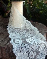 "Ivory Lace Ribbon - 6"" x 10Y"