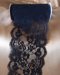 "Black Lace Ribbon - 6"" x 10Y"