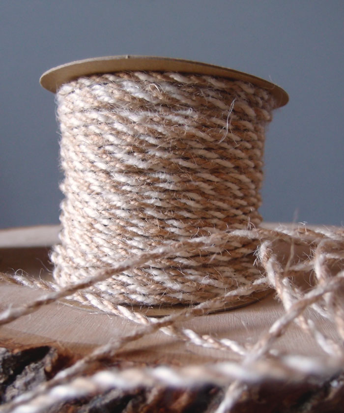 Ivory Two-Tone Jute Twine (2.5mm)