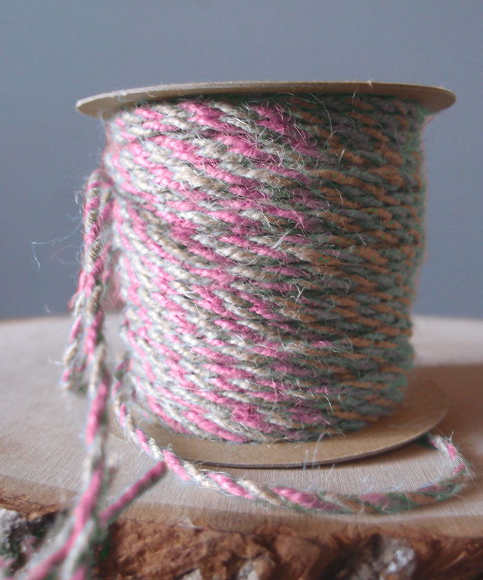 Pink Two-Tone Jute Twine (2.5mm)