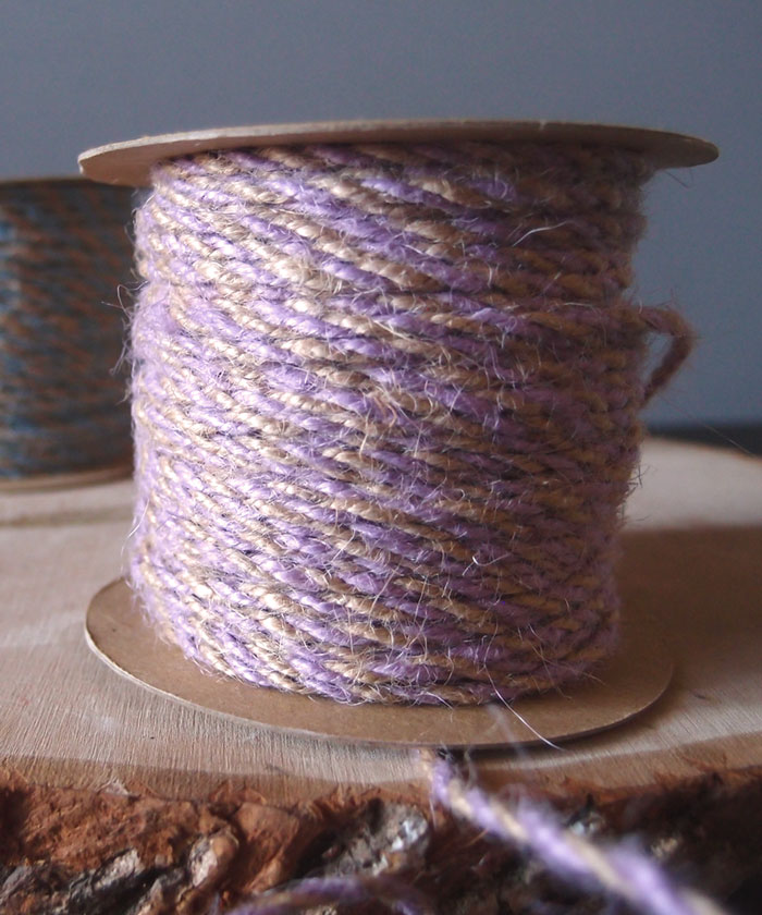 Lavender Two-Tone Jute Twine (2.5mm)