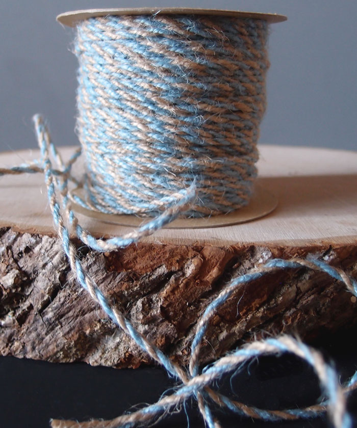 Light Blue Two-Tone Jute Twine (2.5mm)