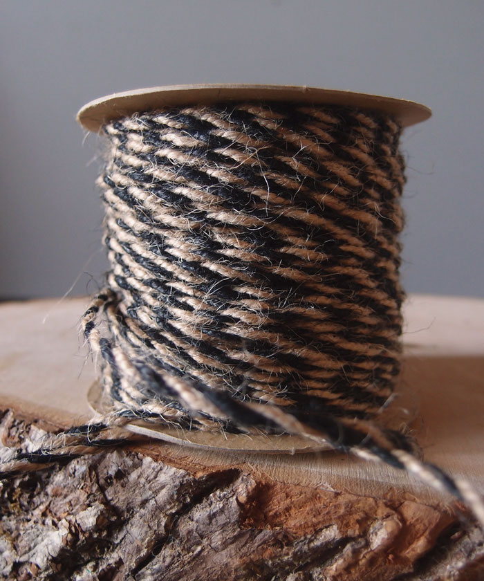Black Two-Tone Jute Twine (2.5mm)