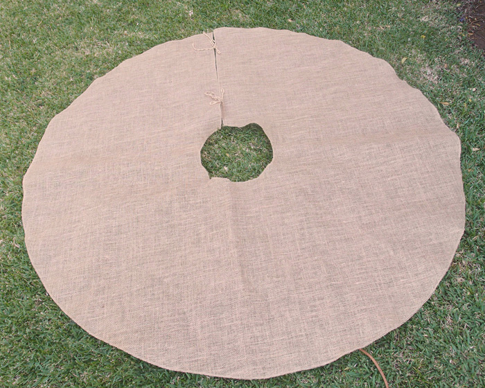 Burlap Tree Skirt