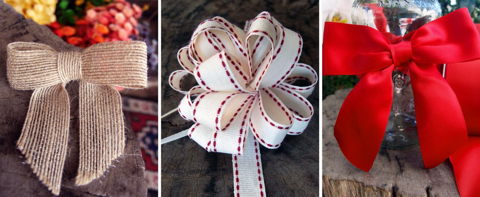 Wholesale Pre Tied Bows, Satin, Organza, and Raffia