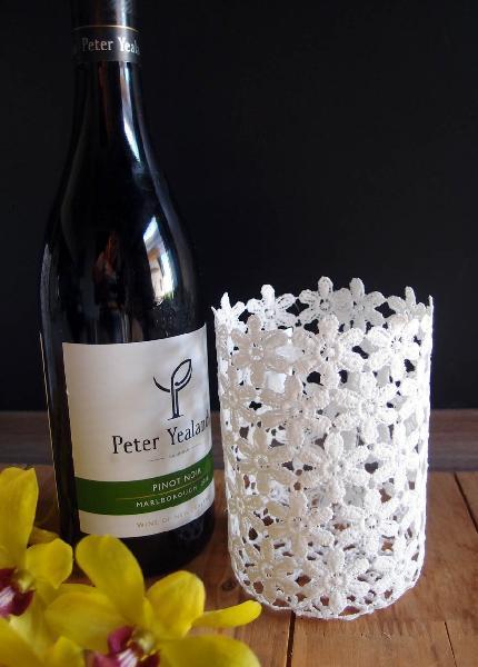 Stiffened Lace Vase Wine Bottle Holder 5