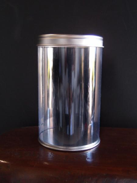 "Clear Cylinder with Tin Lid - 2.7"" x 4.4"""