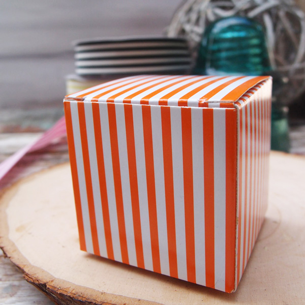 Striped Paper Mini Box