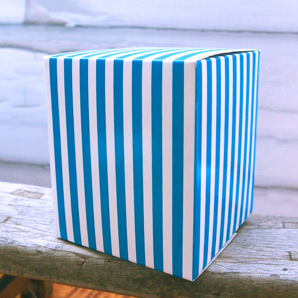 Striped Paper Box